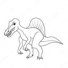 Kleurboek Spinosaurus Dinosaur Stockvector Blackspring1 84377208