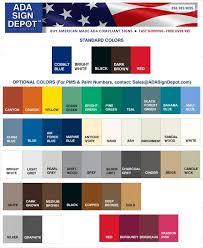 Rowmark Ada Alternative Color Chart Ada Compliant Colors Bahangit Co