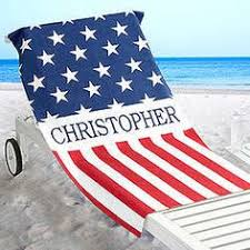 personalized red white and blue all american beach towel findgift