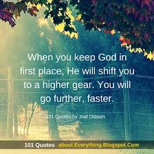 Joel Osteen Quotes Enchanting When You Keep God In First Place Joel Osteen Quotes 48 Quotes
