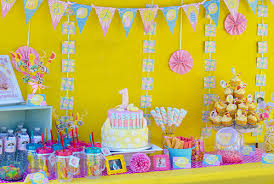 sunshine and pink lemonade birthday party decorations