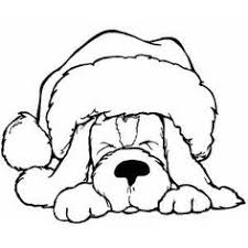 Christmas Coloring Pages Puppy At Getdrawingscom Free For