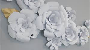 White Paper Flower Backdrop Diy Large Paper Flower Backdrop Video Background Youtube
