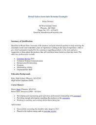 Sales Associate Resume Example Retail Sales Associate Resume Example Skills Description