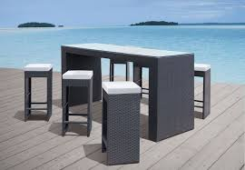 Backyard Outdoor Wicker Bar Stools Unique Modern Patio Table Set Outdoor Wicker Bar Furniture