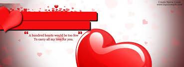 beautiful love hearts facebook cover