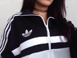 adidas girls. jacket black and white adidas streetwear stripes boys/girls girls