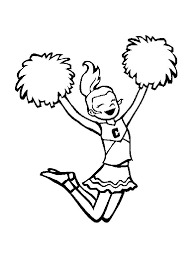 Small Picture Cheerleader coloring pages Free Printable Cheerleader coloring pages