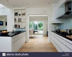 Kitchens With Granite Worktops White Units With Black Granite Worktops By Magnet In Stylish