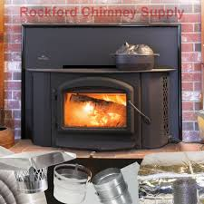 wood fireplace insert napoleon 1402 with 6 x 15 chimney liner insulation kit