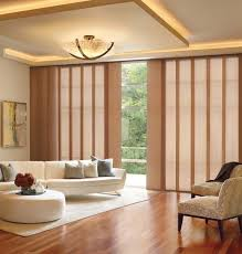 vertical patterned panel sliding blinds
