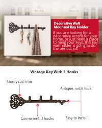 Key Holder For Wall Amazoncom Decorative Wall Mounted Key Holder Vintage Key With