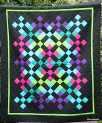 Amish-inspired quilt with bright neon colors at Crosspatch | Amish ... & Amish-inspired quilt with bright neon colors at Crosspatch Adamdwight.com