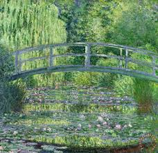 the waterlily pond painting claude monet the waterlily pond art print