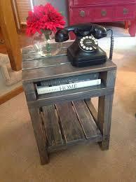 pallet furniture pinterest. reclaimed wood pallet end table furniture pinterest