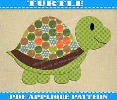 Free Quilt Pattern: Turtle Applique   Free Quilt Patterns ... & Turtle Applique Pattern Template PDF Download Instant Fabric Shirt Design  Print Brother Nursery Wall DIY Boy · Baby Quilt ... Adamdwight.com