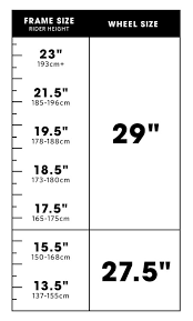 Trek Bike Fit Chart 52 Clean Trek Frame Size Chart