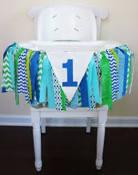 blue green aqua highchair banner blue green 1st by mylittleug