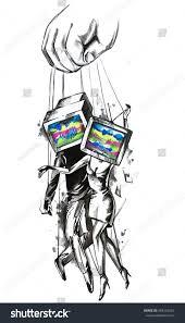 mind control television manipulation advertising illustration mind control television manipulation advertising illustration