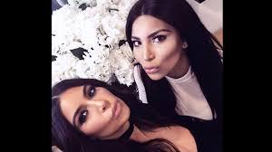 kim kardashian meets her insram look alike