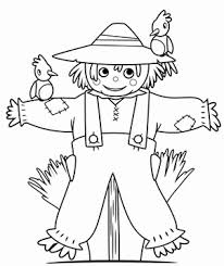 Small Picture Cute Scarecrow Coloring Pages GetColoringPagescom