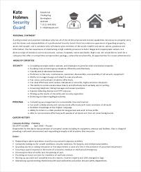 Security Supervisor Resume Custom Security Guard Resume 60 Free Sample Example Format Free