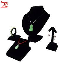 Black Velvet Jewelry Display Stands 100Pcs Black Velvet Jewelry Display Rack Necklace Bust Pendant 55