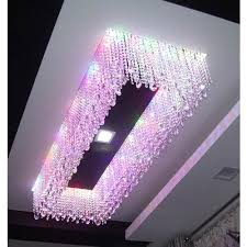 rectangular modern ceiling crystal chandeliers