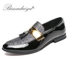 BIMUDUIYU Italian <b>Tassel Business Men</b> Loafers <b>Shoes</b> Leather ...
