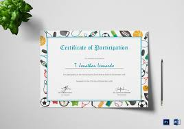 31 Participation Certificate Templates Pdf Word Psd Ai