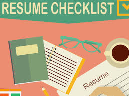 Resume Writing Checklist: Infographic | Galleycat