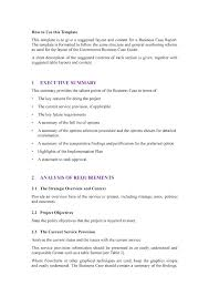Business Brief Example Business Case Template Word Fake Credit Report Example Document Free