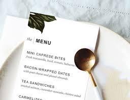 printable dinner party menu template