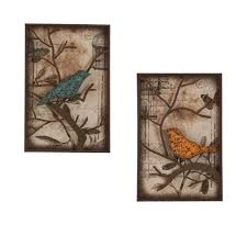 bird decorative wall panel set 2 on tropical wall art sets with southern enterprises 16 in x 24 in bird decorative wall panel set