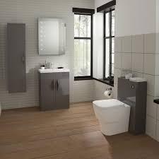 bathroom furniture ideas. Hudson Reed Memoir Compact 500mm 2 Door Floor Mounted Basin \u0026 Cabinet - Gloss Grey Bathroom Furniture Ideas