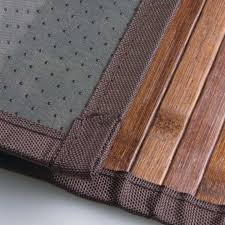 4 of 6 bathroom door mat bath wood deck tile floor carpet bamboo roll out kitchen rug