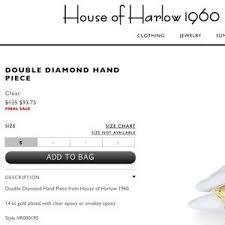 Diamond Hand Piece Ring Bracelet