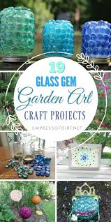 creative garden craft projects using gl garden gems from the dollar