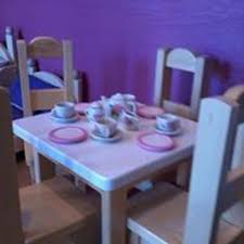 18 Inch Doll Table And 2 Chairs For Dolls Like American Girl Etsy
