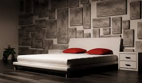 Red And Black Is A Great Color Combination When You Want To Inject  Personality Into Any Space, Particularly A Bedroom. Here, Smudged Gray And  Black Canvases ...