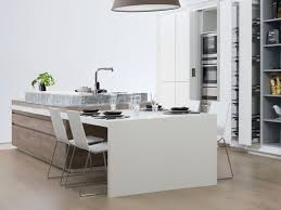 Porcelanosa Kitchen Cabinets Contemporary Kitchen Oak Wood Veneer Island G490