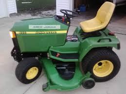 very very well cared for john deere 455 diesel tractor mower