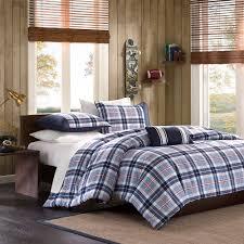 home essence apartment lance plaid bedding duvet cover set