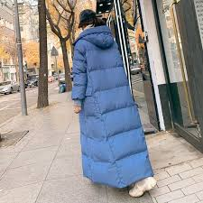 Korea <b>Men</b> Long Oversized <b>Cotton</b> Down <b>Coat Jacket</b> Hooded ...
