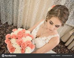 Svatební účes A Make Up Nevěsty Stock Fotografie Trofalena