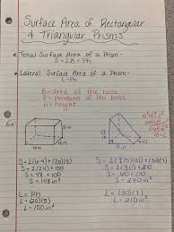 s a rectangular and triangular prism notes