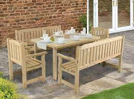a garden table and chairs for every