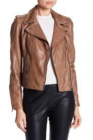 image of lamarque donna lambskin leather moto jacket
