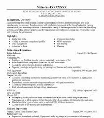 Bike Mechanic Sample Resume