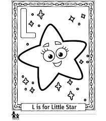 L Little Star Kleine Ster Kleurplaat Jouwkleurplaten